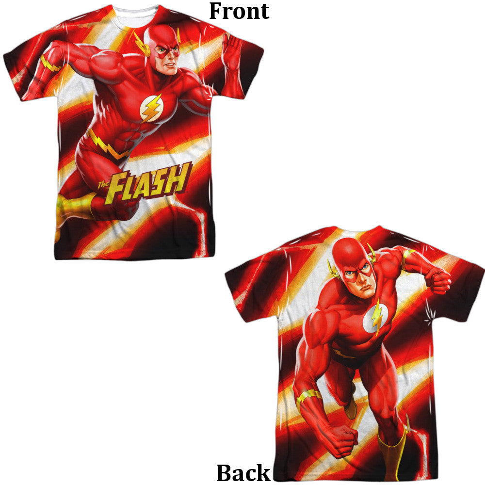 Flash Speed Bolt Adult Tee - Front And Back Print