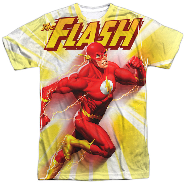 Flash Motion Blur Adult Tee - Front Print Only