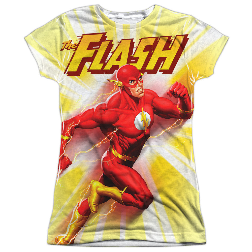 Flash Motion Blur Juniors Tee - Front Print Only