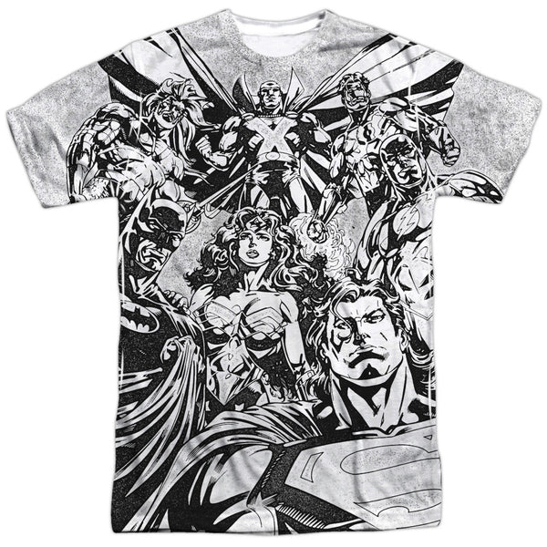 Justice League Graphic Gathering Adult Tee - Front Print Only