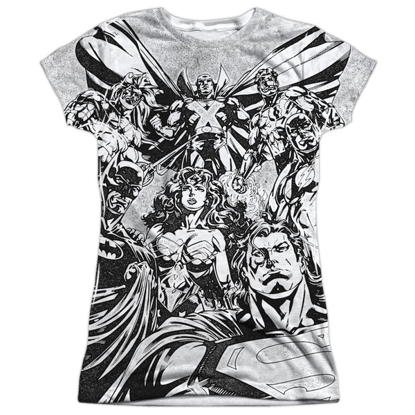 Justice League Graphic Gathering Juniors Tee - Front Print Only