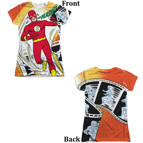 Flash Filmstrip Juniors Tee - Front And Back Print