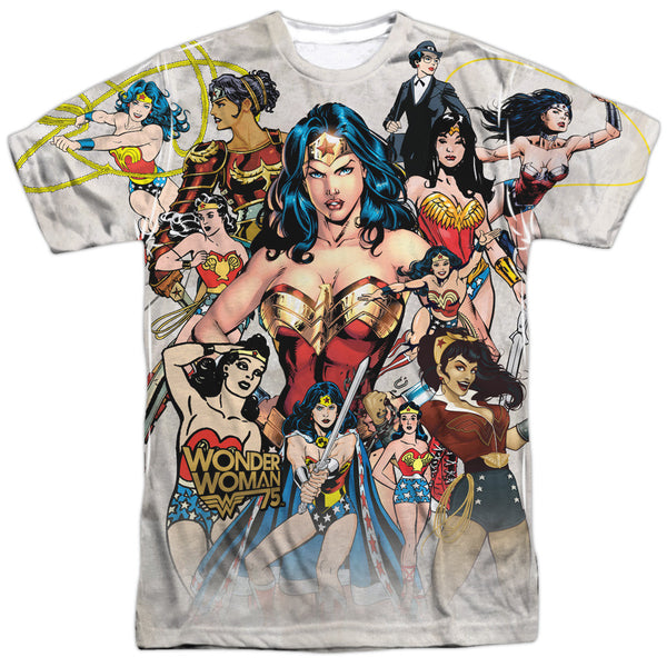 Wonder Woman 75th Collage Adult Tee - Front Print Only