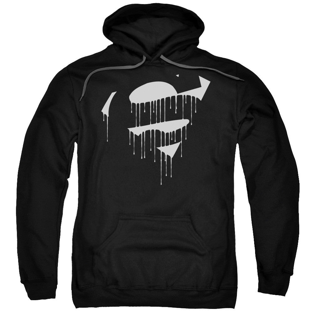 Superman Dripping Shield Adult Hoodie