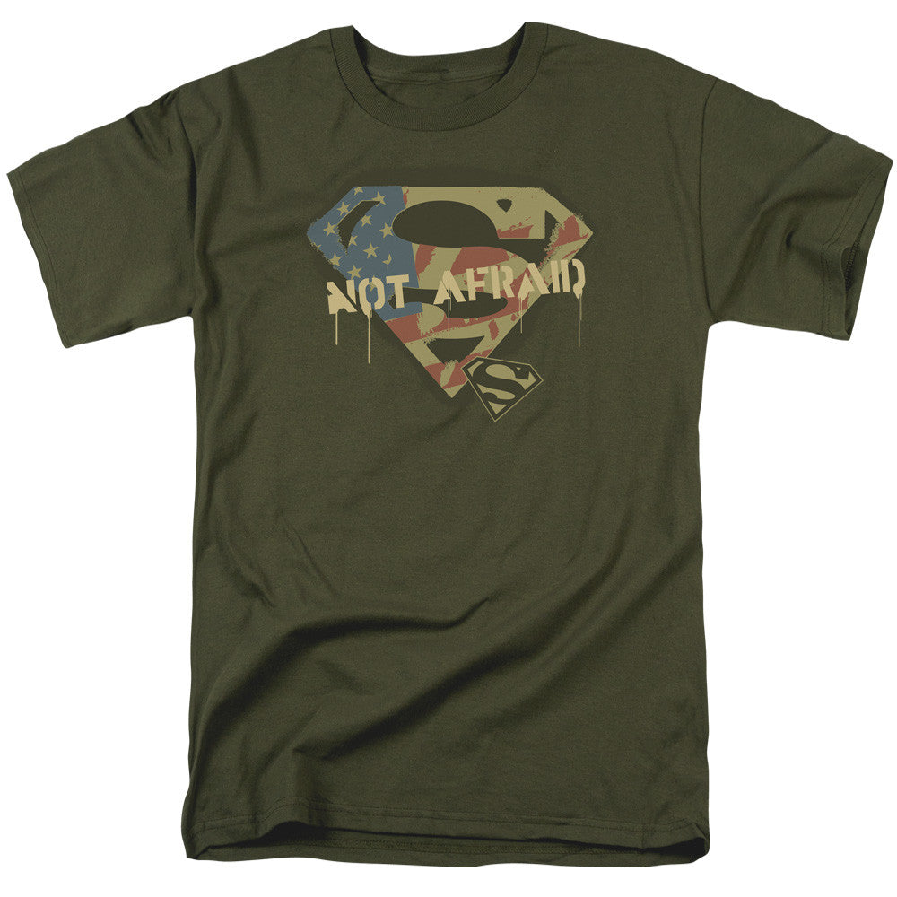 Superman Not Afraid Adult Tee