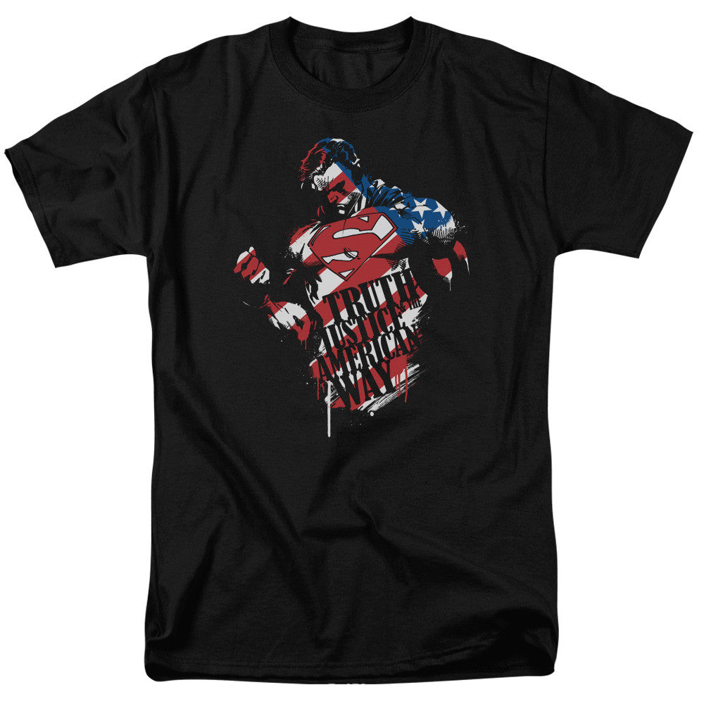Superman The American Way Adult Tee