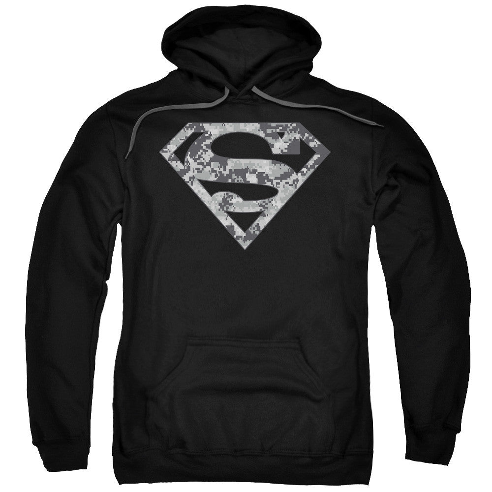 Superman Urban Grey Camo Adult Hoodie