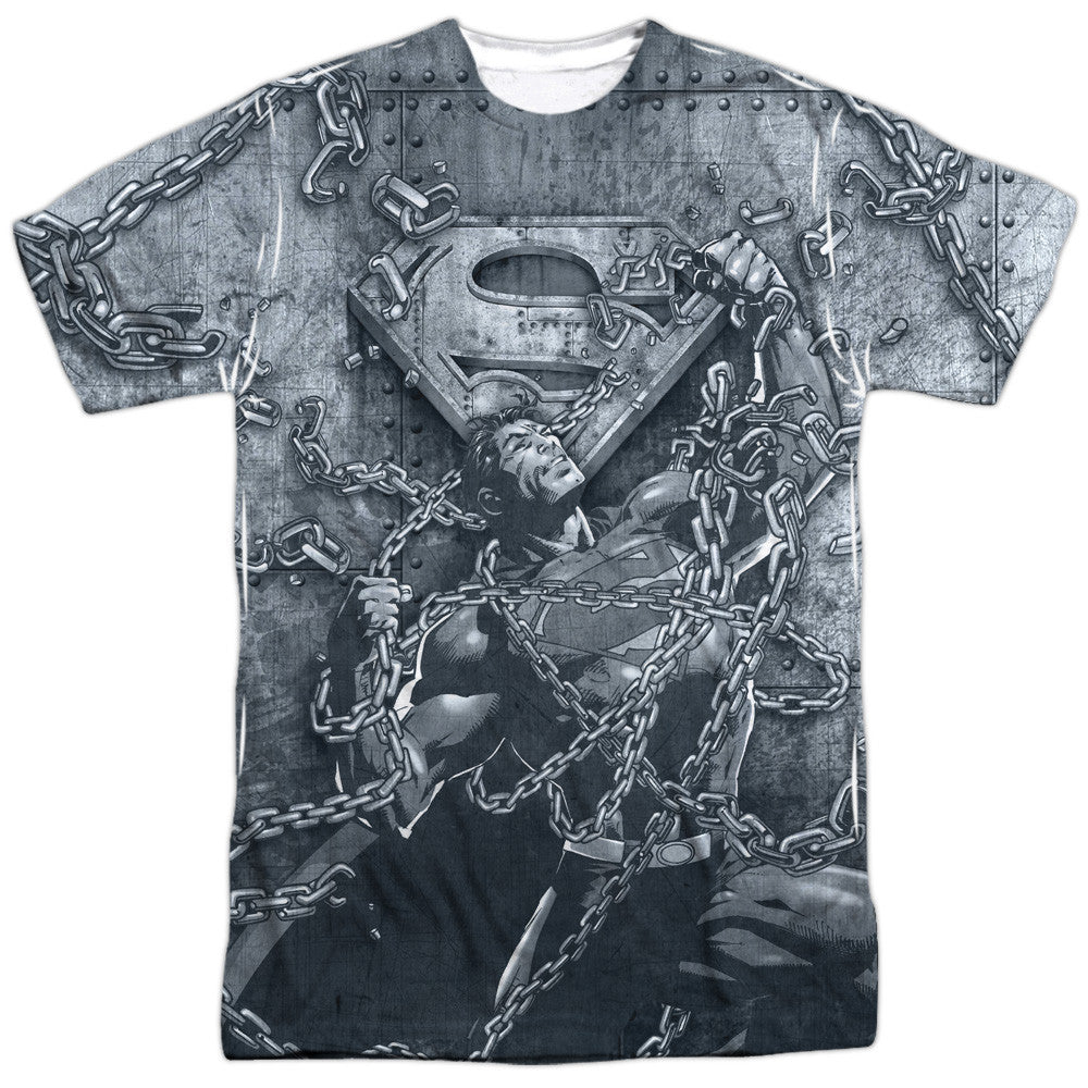 Superman Break Free Adult Tee - Front Print Only