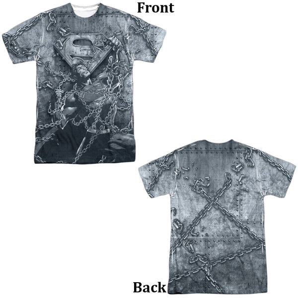Superman Breaking Free Adult Tee - Front and Back Print