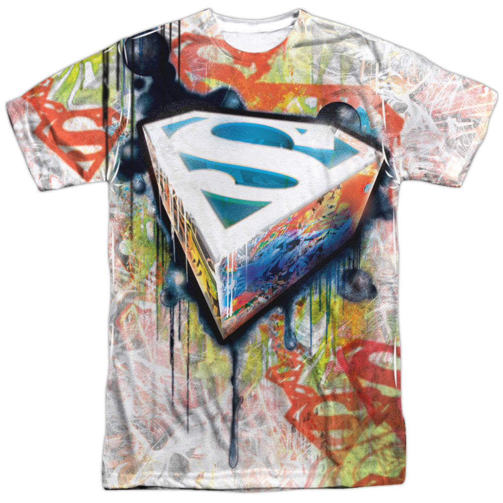 Superman Urban Shield Adult Tee - Front Print Only