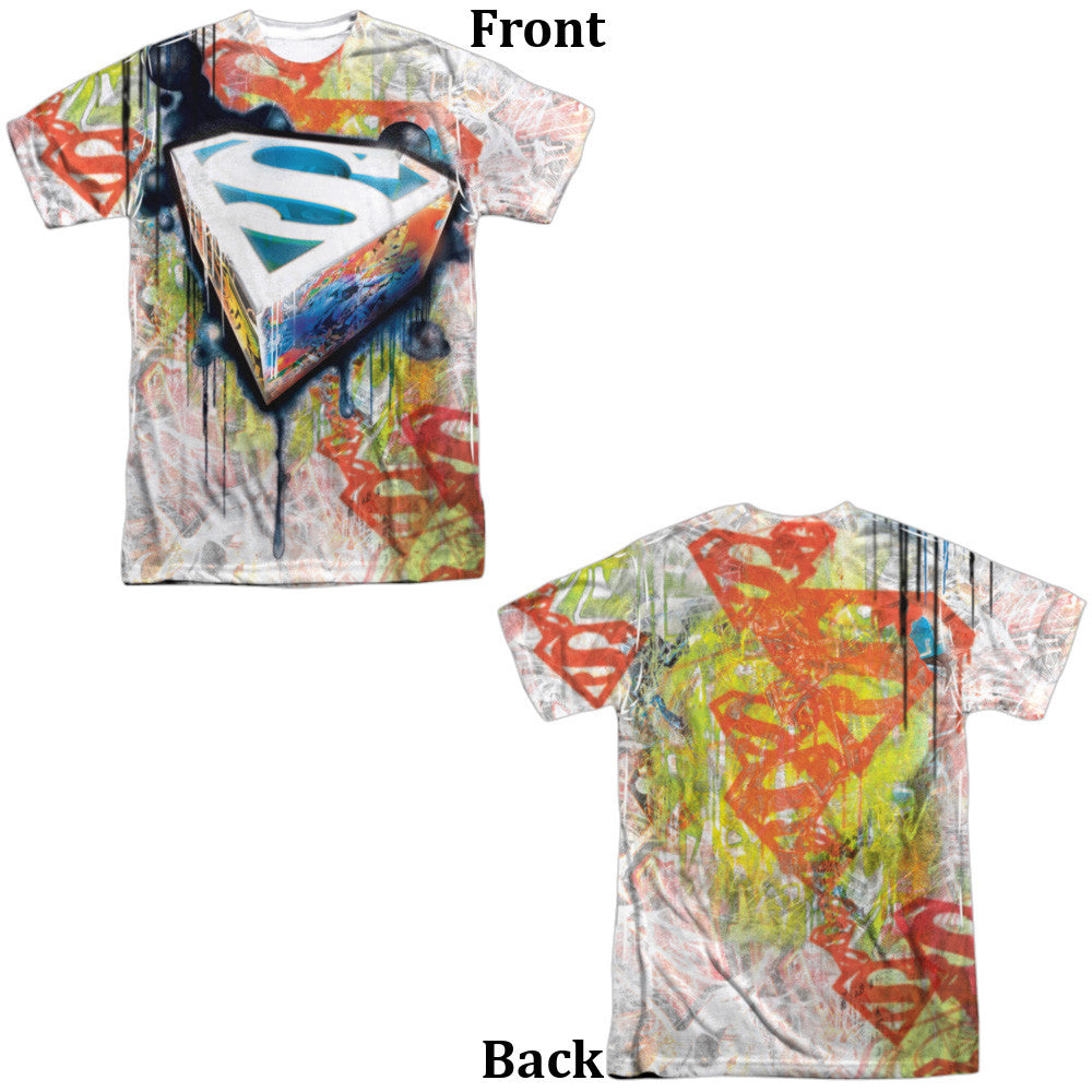 Superman Urban Shield Adult Tee - Front And Back Print