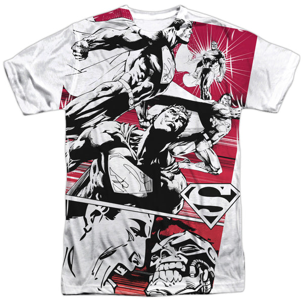 Superman Angry Red Adult Tee - Front Print Only