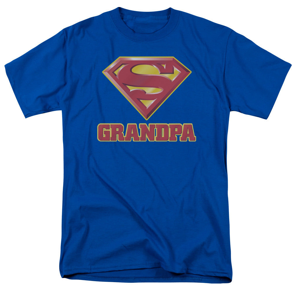 Superman Super Grandpa Adult Tee