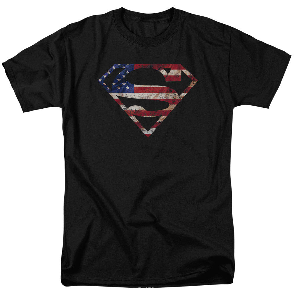 Superman American Patriot Adult Tee