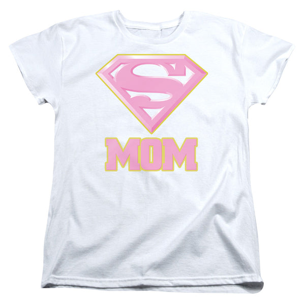 Superman Super Mom Pink Womens Tee