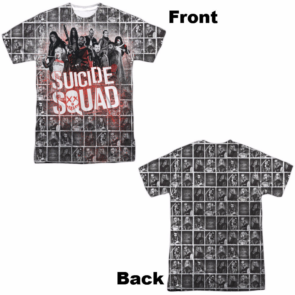 Suicide Squad Squad Splatter Adult Tee - Front and Back Print