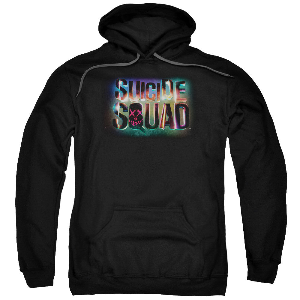 Suicide Squad Neon Logo Adult Hoodie