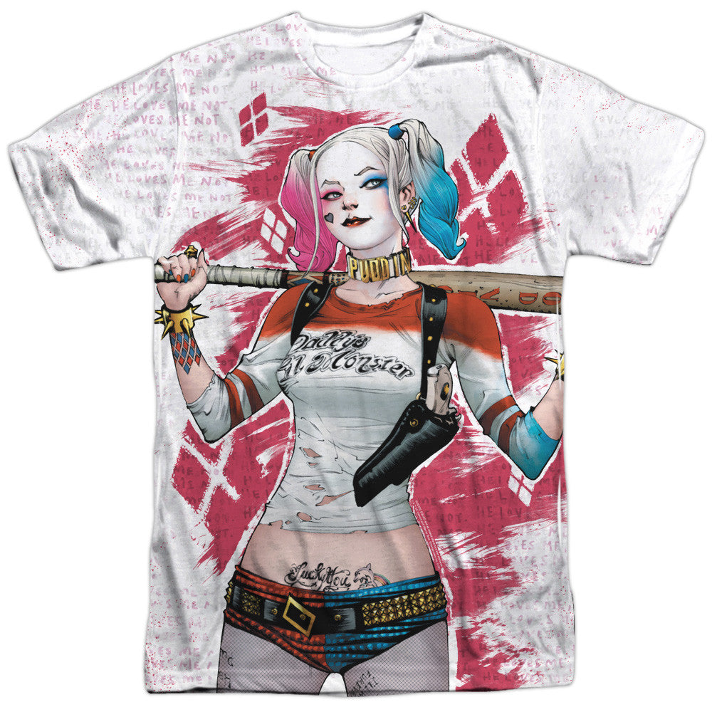 Suicide Squad Harley Drawing Adult Tee - Front Print Only