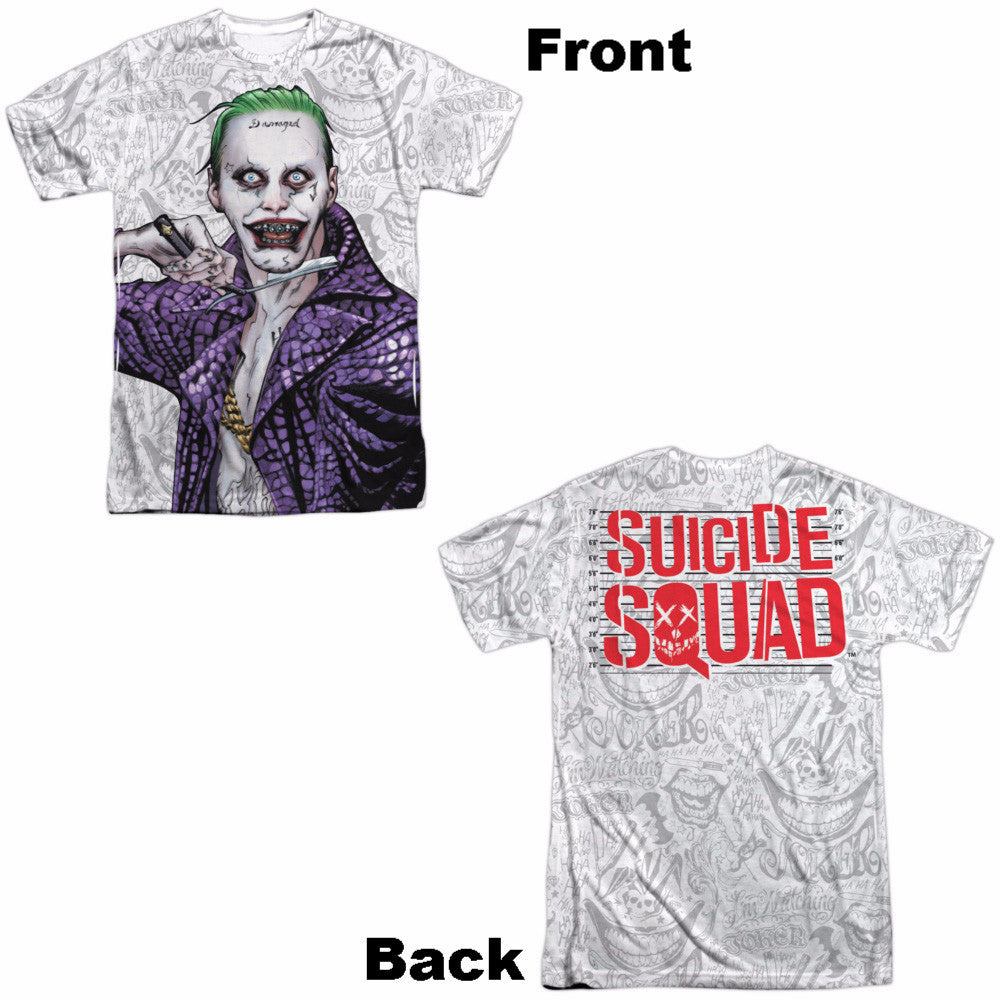 Suicide Squad Across The Throat Adult Tee - Front/Back Print