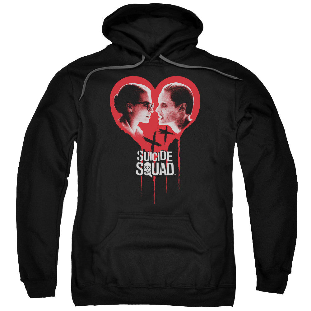 Suicide Squad Joker Spits Game Adult Hoodie