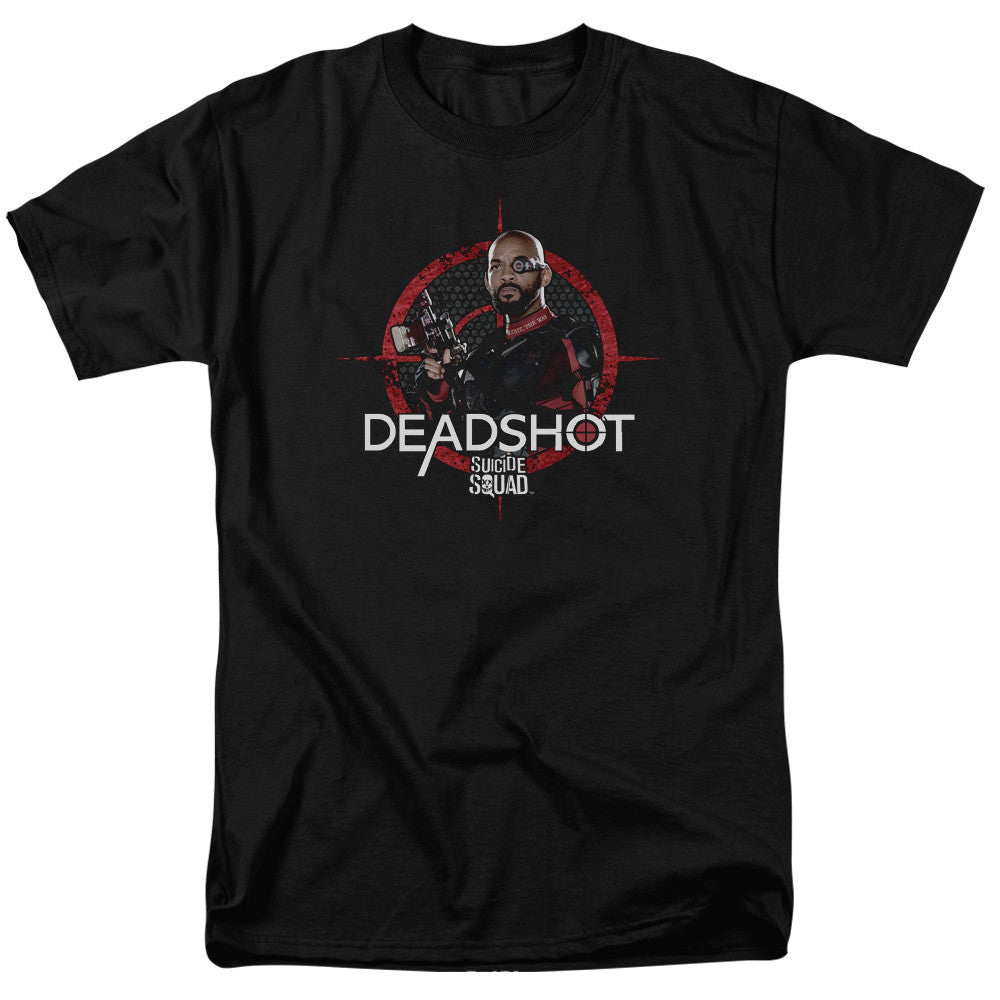 Suicide Squad Deadshot Target Adult Tee