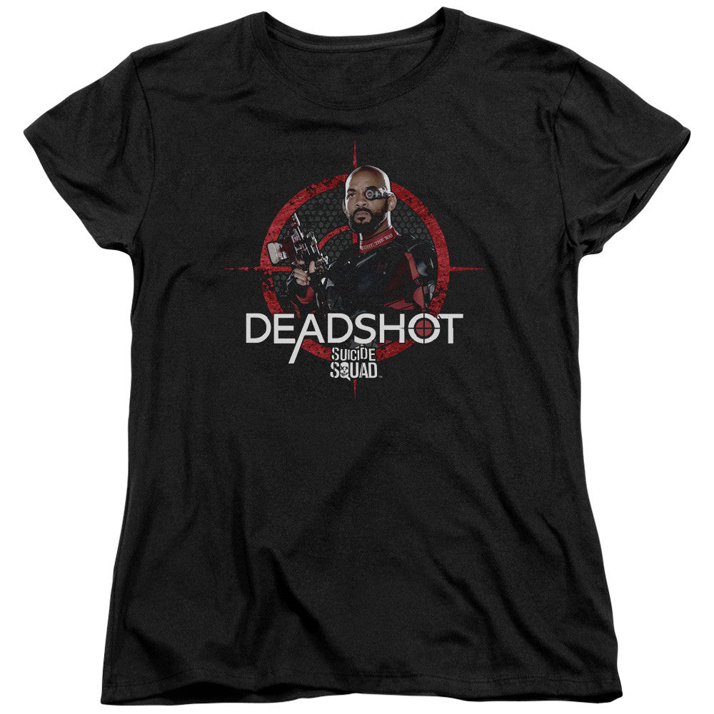 Suicide Squad Deadshot Target Womens Tee