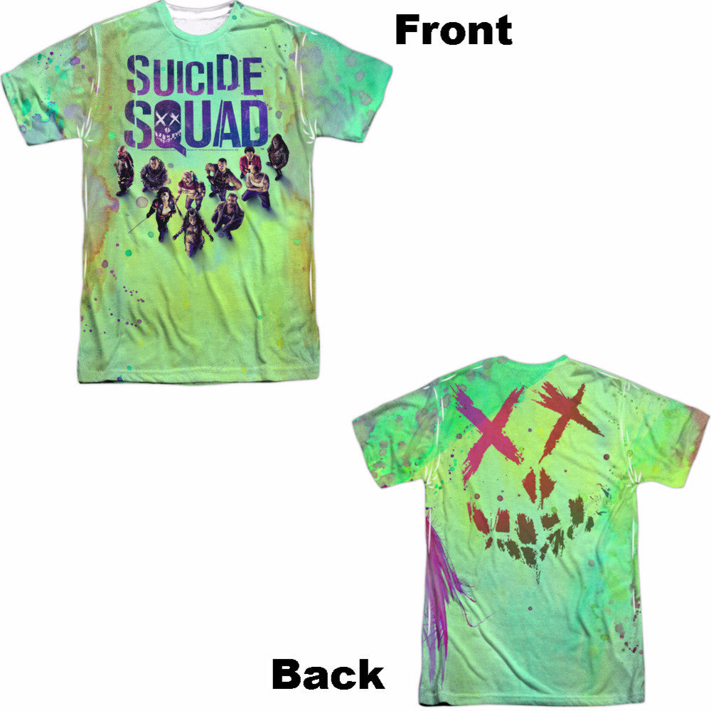 Suicide Squad Poster Adult Tee - Front and Back Print