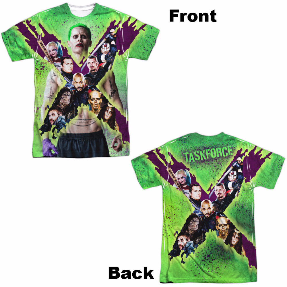 Suicide Squad TaskforceX Adult Tee - Front and Back Print