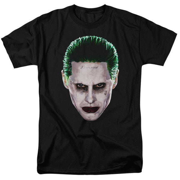 Suicide Squad Joker Head Adult Tee