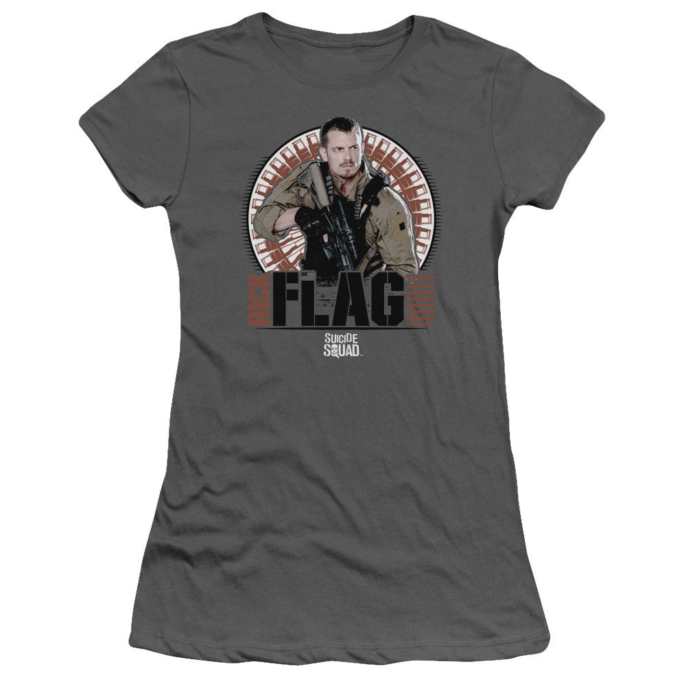 Suicide Squad Rick Flag Bullets Juniors Tee