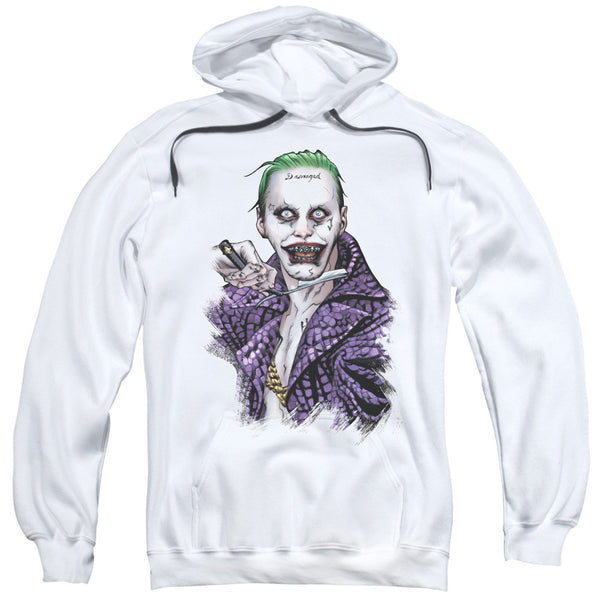 Suicide Squad Blade Adult Hoodie - White