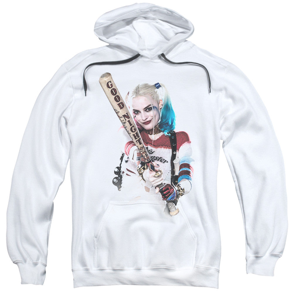 Suicide Squad Bat at You Adult Hoodie - White
