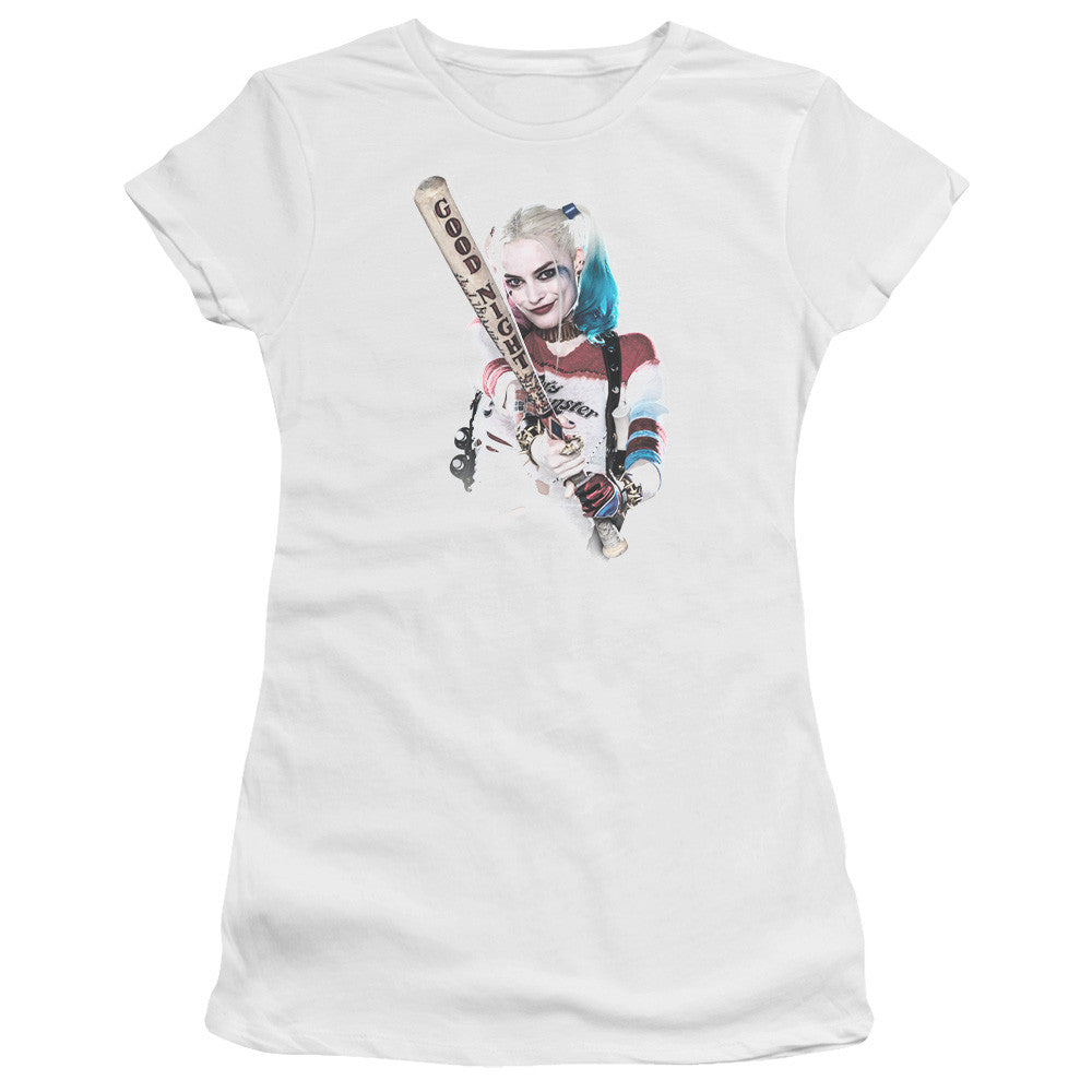 Suicide Squad Bat at You Juniors Tee - White