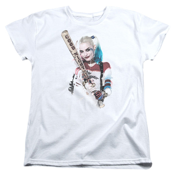 Suicide Squad Bat at You Womens Tee - White