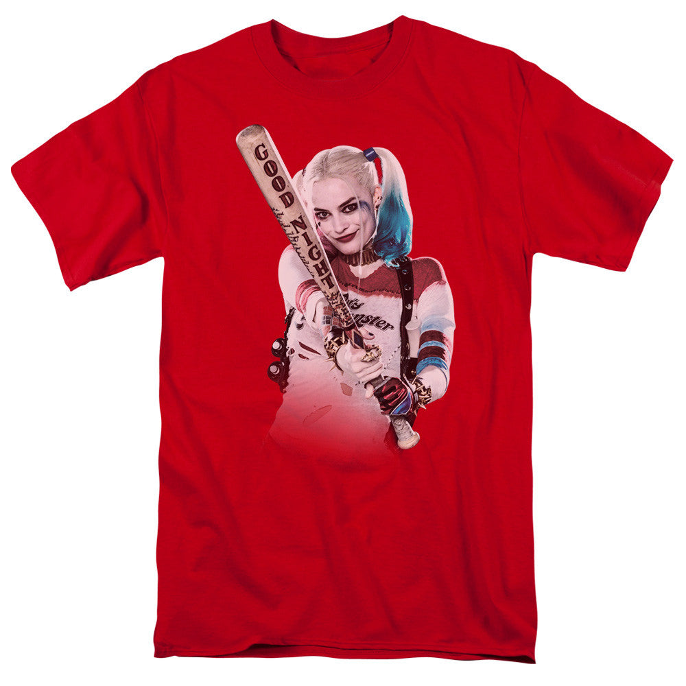 Suicide Squad Bat at You Adult Tee - Red