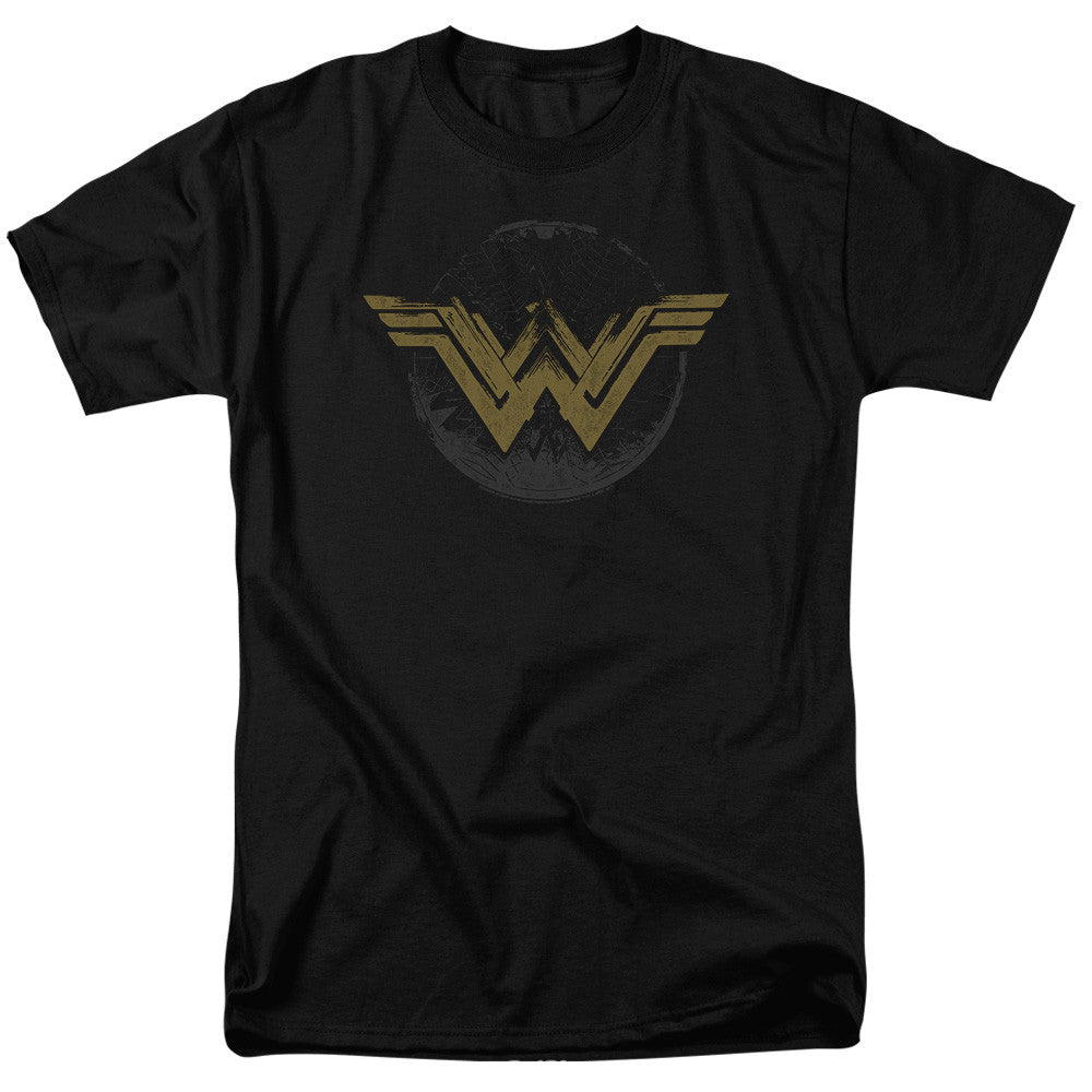 Wonder Woman Movie Distressed Logo Adult Tee