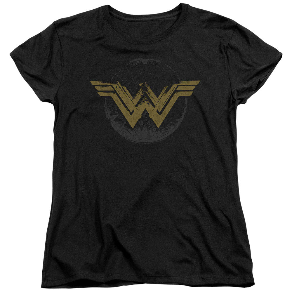 Wonder Woman Movie Distressed Logo Womens Tee