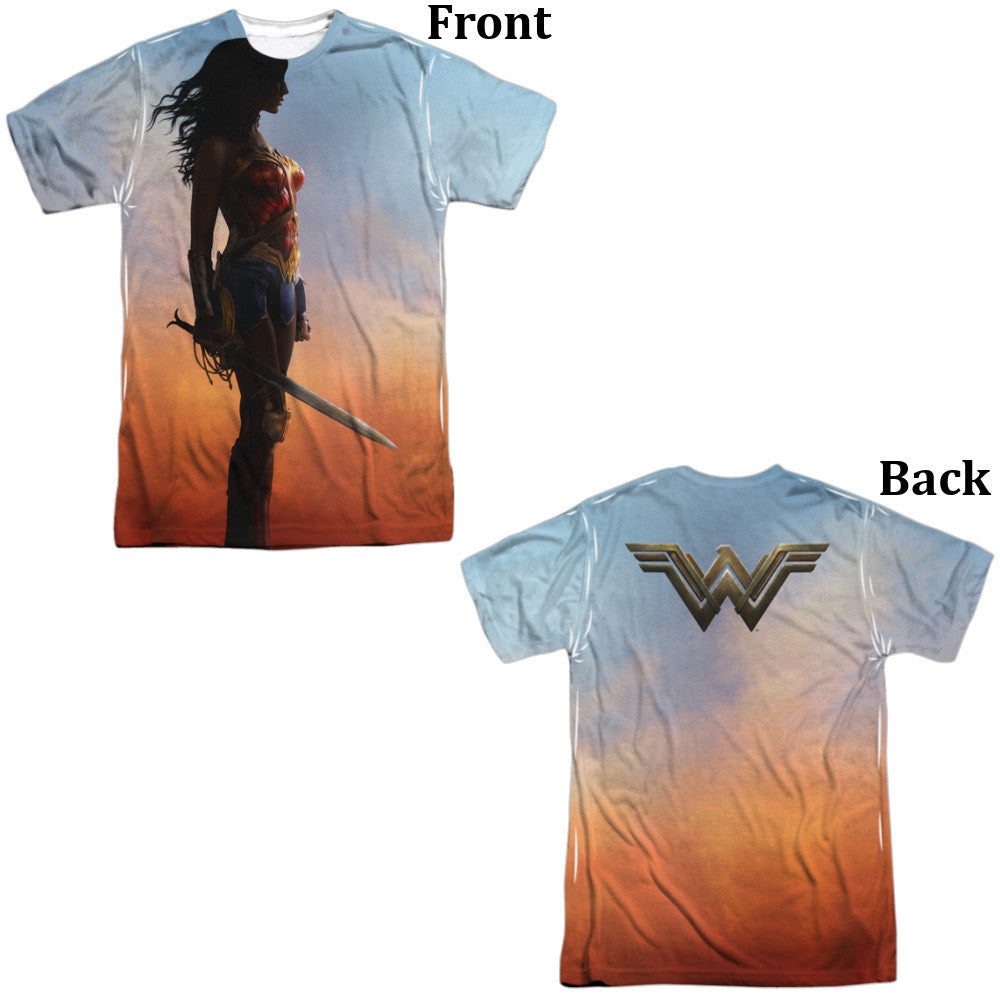 Wonder Woman Movie Poster Adult Tee - Front And Back Print