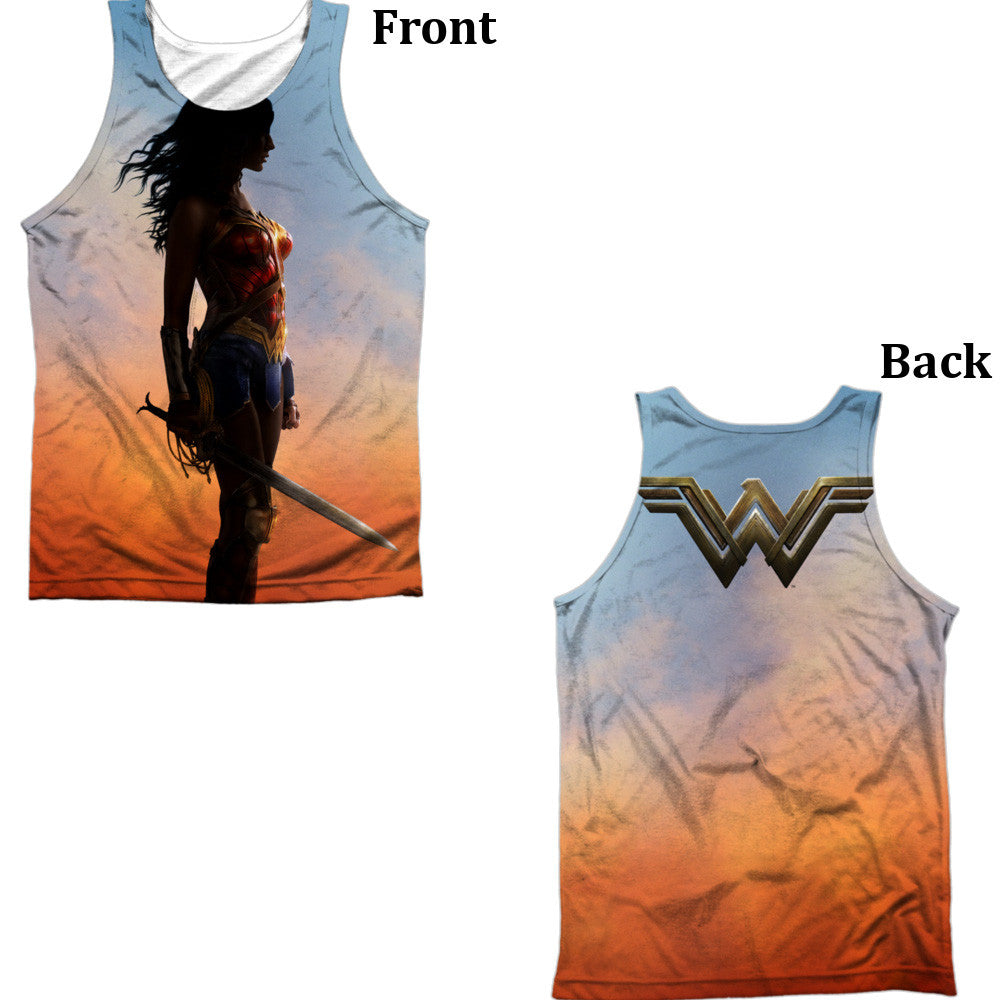 Wonder Woman Movie Poster Adult Tank Top - Front And Back Print