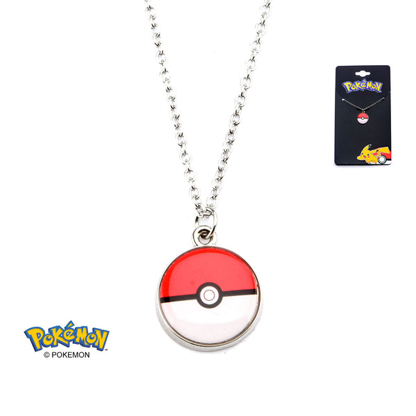 Pokemon Poke Ball Necklace