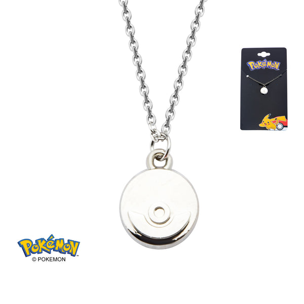 Pokemon Steel Poke Ball Necklace
