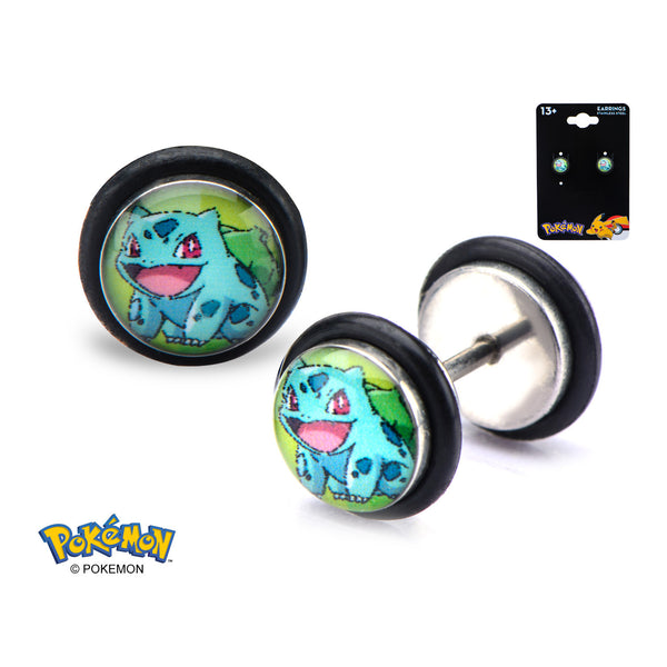 Pokemon Bulbasaur 18 Gauge Faux Plug Earrings