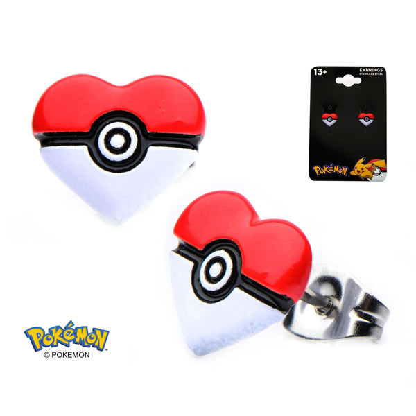 Pokemon Heart Earrings
