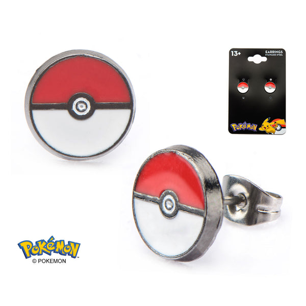 Pokemon Poke Ball Earrings