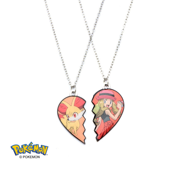Pokemon Serena and Fennekin Necklace Set