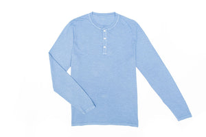 Mens Henley In Sky Blue