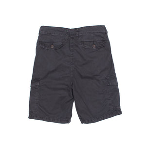 Brushed Cotton Cargo Short In Charcoal