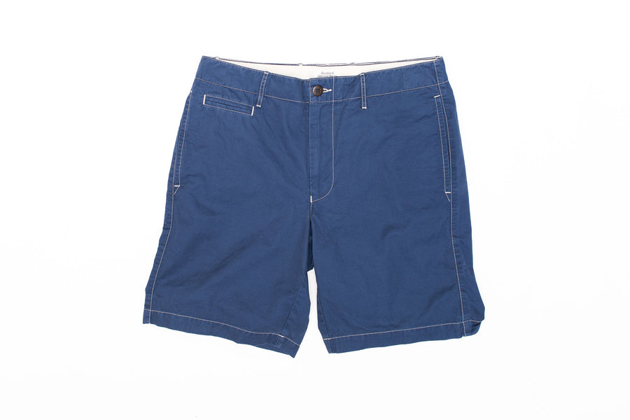 Gaberdine Short In Mid Blue