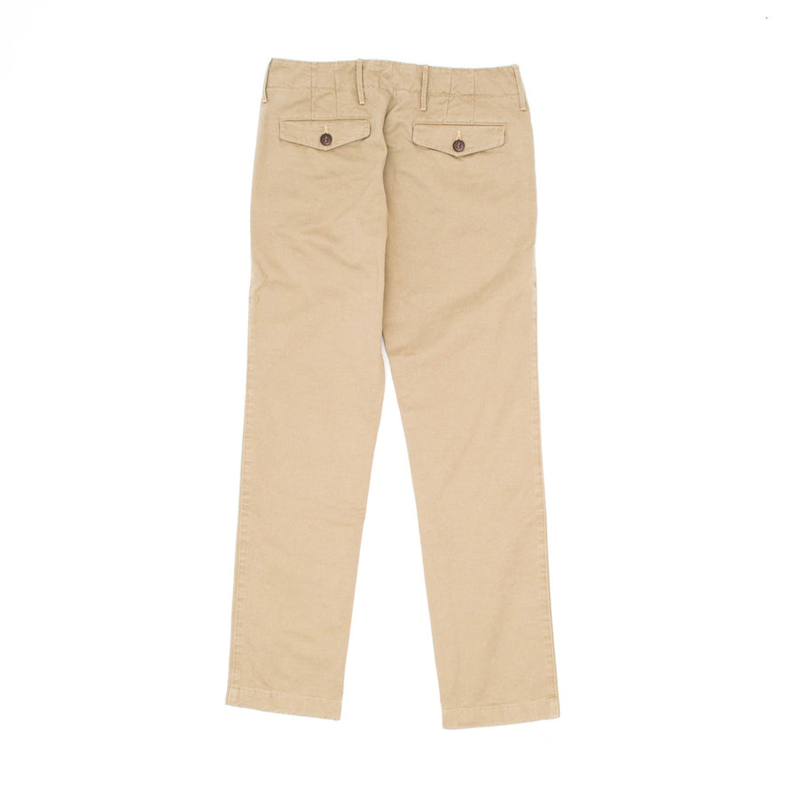 Polished Cotton Chino  Beige