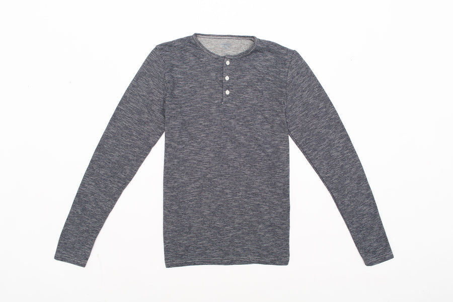 Boys Double Faced Henley Stripe